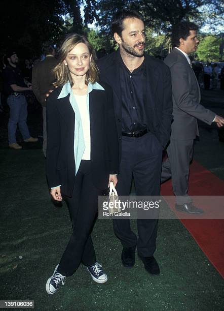 Actress Calista Flockhart and actor Gil Bellows attend the FOX Television UpFront Party on May 30 1997 at Tavern on the Green in New York City