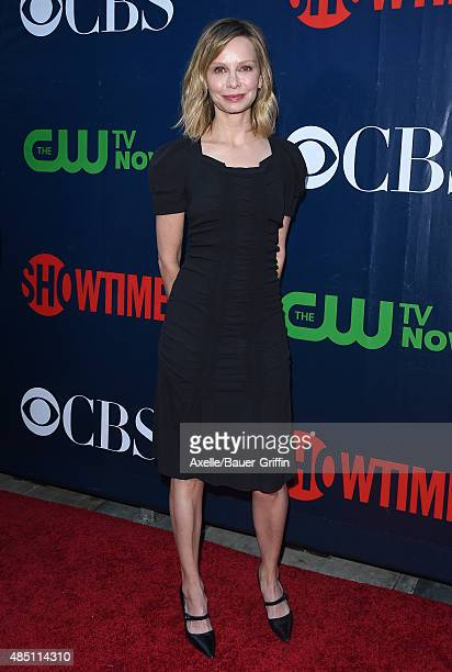 Actress Calista Flockhart arrives at CBS, CW And Showtime 2015 Summer TCA Party at Pacific Design Center on August 10, 2015 in West Hollywood,...