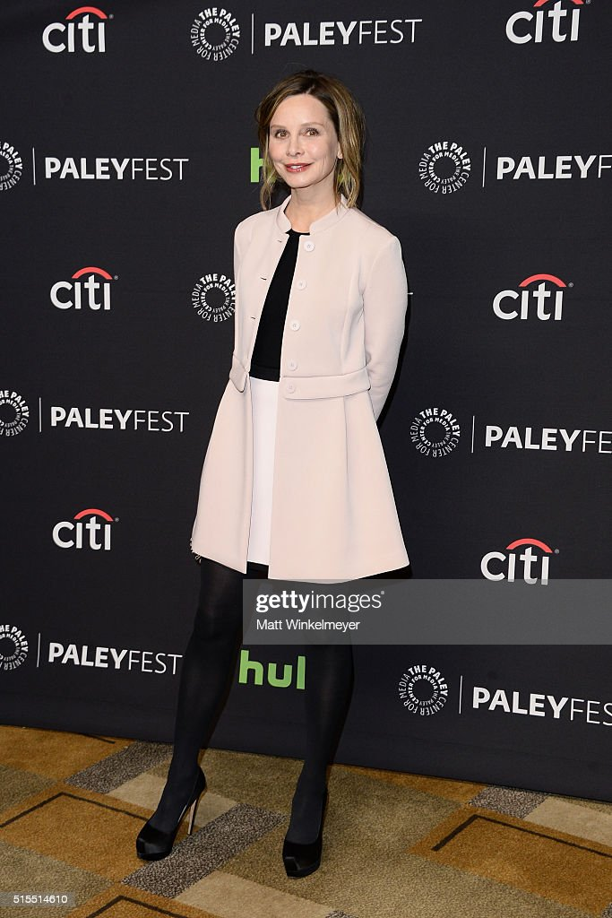 Actress Calista Flockhart arrives at The Paley Center For Media's 33rd Annual PALEYFEST Los Angeles 'Supergirl' at Dolby Theatre on March 13, 2016 in Hollywood, California.