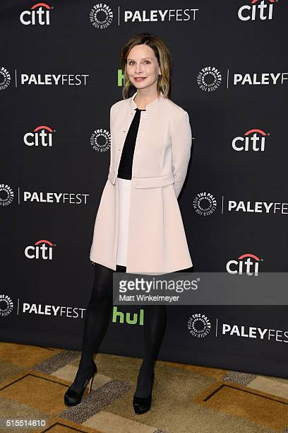 Actress Calista Flockhart arrives at The Paley Center For Media's 33rd Annual PALEYFEST Los Angeles Supergirl at Dolby Theatre on March 13 2016 in...