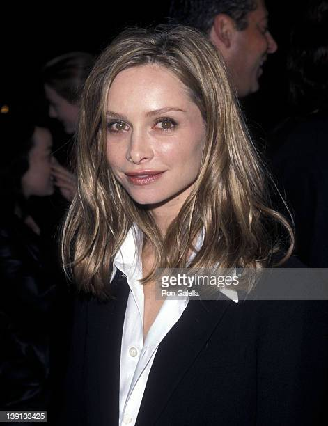Actress Calista Flockhart attends 'A Midsummer Night's Dream' Westwood Premiere on April 26 1999 at Mann Bruin Theatre in Westwood California