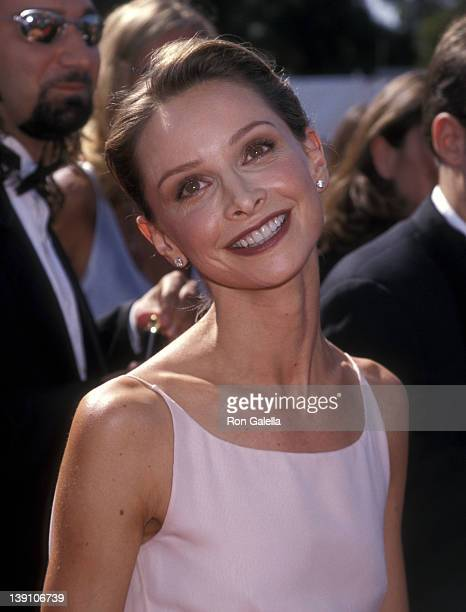 Actress Calista Flockhart attends the 50th Annual Primetime Emmy Awards on September 13 1998 at Shrine Auditorium in Los Angeles California