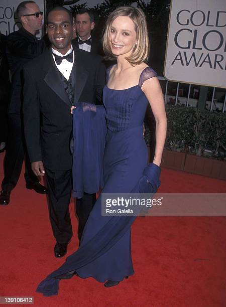 Actress Calista Flockhart attends the 55th Annual Golden Globe Awards on January 18 1998 at Beverly Hilton Hotel in Beverly Hills California