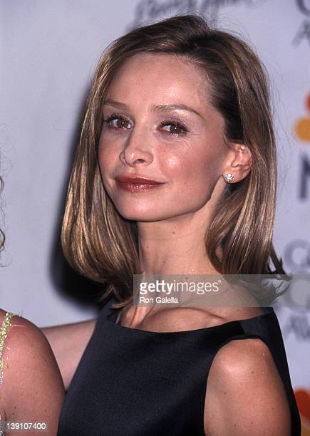 Actress Calista Flockhart attends the 56th Annual Golden Globe Awards on January 24 1999 at Beverly Hilton Hotel in Beverly Hills California