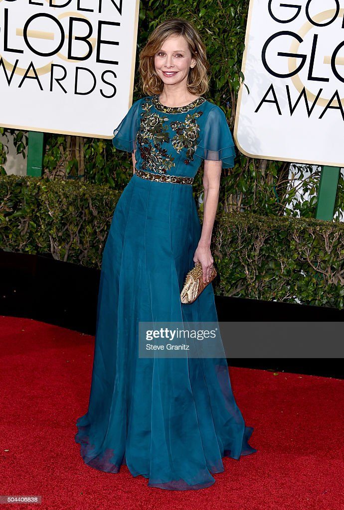 Actress Calista Flockhart attends the 73rd Annual Golden Globe Awards held at the Beverly Hilton Hotel on January 10, 2016 in Beverly Hills, California.
