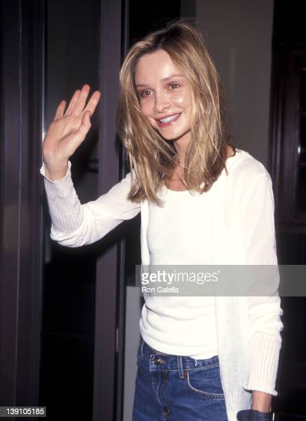 Actress Calista Flockhart attends the 'Bash LatterDay Plays' Closing Night Party on July 24 1999 at The Palm Restaurant in New York City