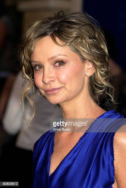 Actress Calista Flockhart attends the Fall 2004 Lanvin Fashion Show benefiting the Rape Foundation on May 12 2004 at the Barneys New York store in...