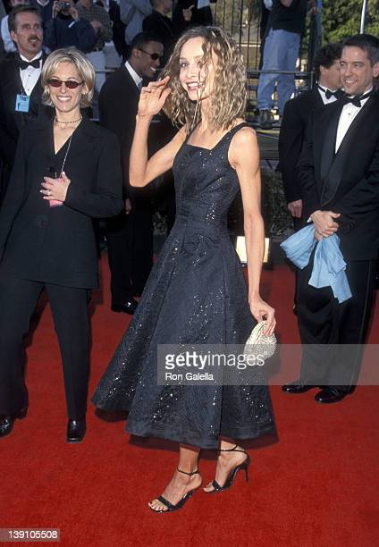 Actress Calista Flockhart attends the Fifth Annual Screen Actors Guild Awards on March 7 1999 at Shrine Auditorium in Los Angeles California