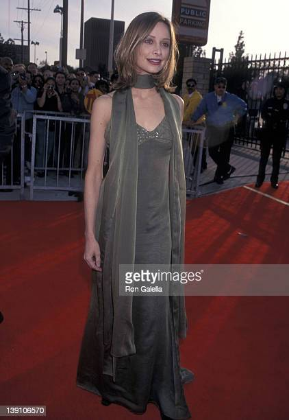 Actress Calista Flockhart attends the Fourth Annual Screen Actors Guild Awards on March 8 1998 at Shrine Exposition Center in Los Angeles California