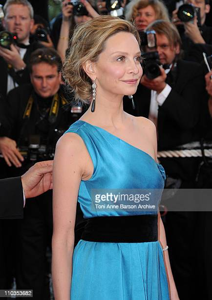 Actress Calista Flockhart attends the Indiana Jones and the Kingdom of the Crystal Skull premiere at the Palais des Festivals during the 61st Cannes...