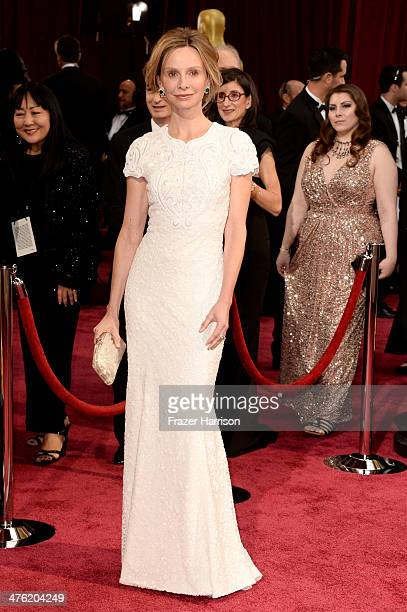 Actress Calista Flockhart attends the Oscars held at Hollywood Highland Center on March 2 2014 in Hollywood California