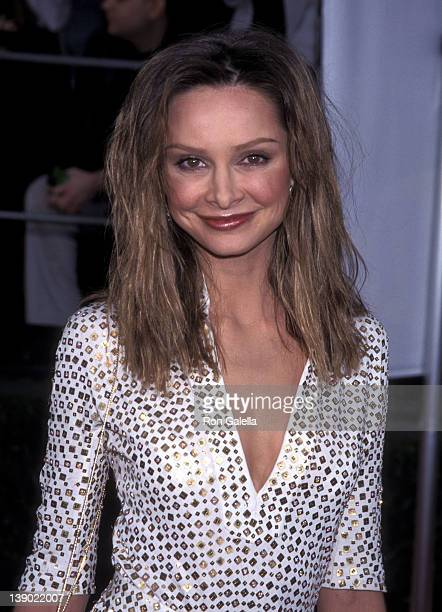 Actress Calista Flockhart attends the Seventh Annual Screen Actors Guild Awards on March 11 2001 at Shrine Exposition Center in Los Angeles California