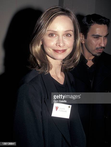 Actress Calista Flockhart attends the VDay Presents the First Annual Benefit Performance of The Vagina Monologues on February 14 1998 at the...