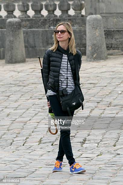 Actress Calista Flockhart is seen visiting the 'Chateau de Versailles' on July 1 2014 in Versailles France