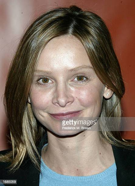 Actress Calista Flockhart speaks against female genital mutilation during a press conference on December12 2002 in Beverly Hills California The event...