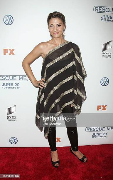 Actress Callie Thorne attends the Season 6 premiere of 'Rescue Me' at AMC Theater on June 24 2010 in New York City