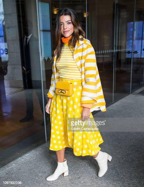 Actress Calu Rivero is seen arriving to Carolina Herrera Fall/Winter 2019 Fashion Show during New York Fashion Week at the New York Historical...