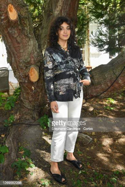 """Actress Camelia Jordana attends the """"Parents D'Eleve"""" Photocall at 13th Angouleme French-Speaking Film Festival on August 29, 2020 in Angouleme,..."""