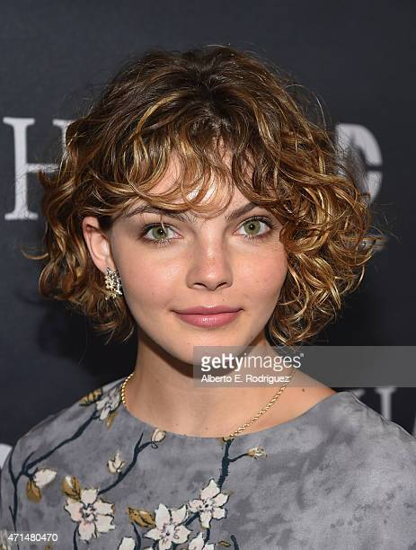 Actress Cameron Bicondova attends Fox's 'Gotham' Season Finale Screening at Landmark Theatre on April 28 2015 in Los Angeles California