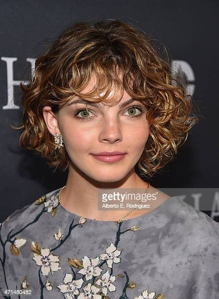 Actress Cameron Bicondova attends Fox's Gotham Season Finale Screening at Landmark Theatre on April 28 2015 in Los Angeles California