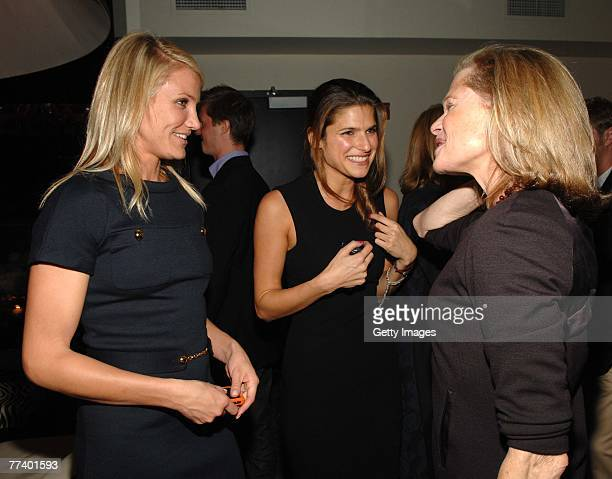 Actress Cameron Diaz actress Lake Bell and designer Robin Bell attend a party for Robin Bell at STK on October 15 2007 in New York City