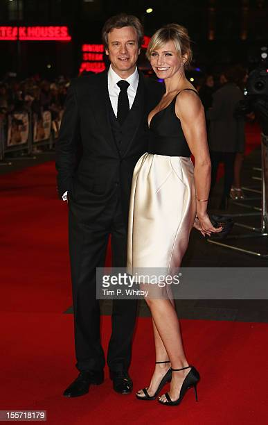 Actress Cameron Diaz and actor Colin Firth attend the World Premiere of Gambit at Empire Leicester Square on November 7 2012 in London England