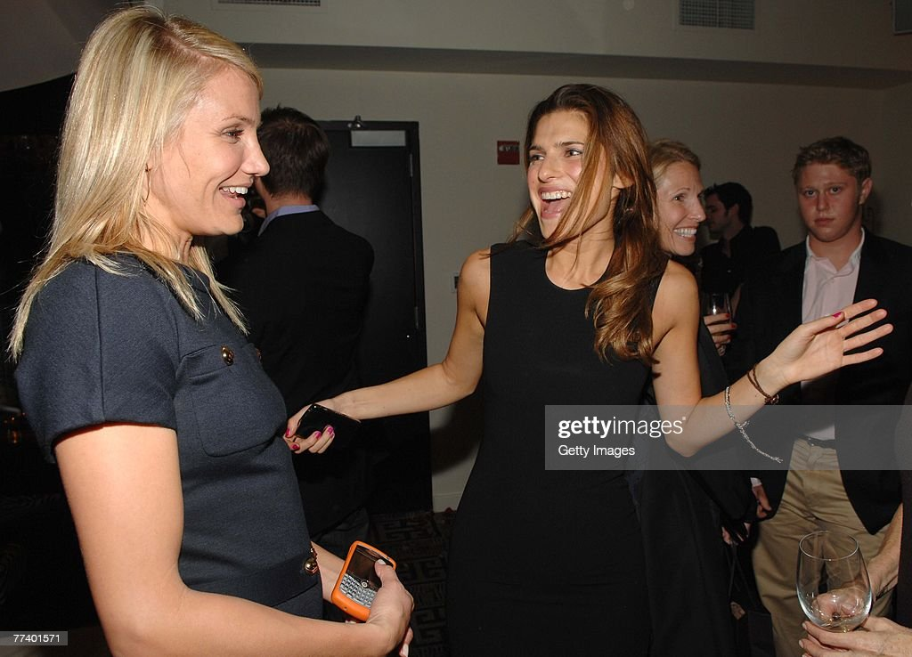 Actress Cameron Diaz L And Lake Bell Attend A Party For Robin