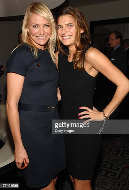 Actress Cameron Diaz and actress Lake Bell attend a party for Robin Bell at STK on October 15 2007 in New York City