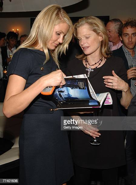 Actress Cameron Diaz and designer Robin Bell attend a party for Robin Bell at STK on October 15 2007 in New York City