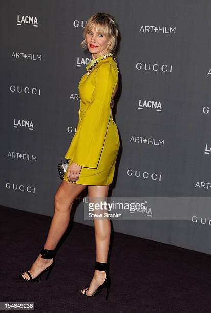 Actress Cameron Diaz arrives at LACMA 2012 Art Film Gala at LACMA on October 27 2012 in Los Angeles California