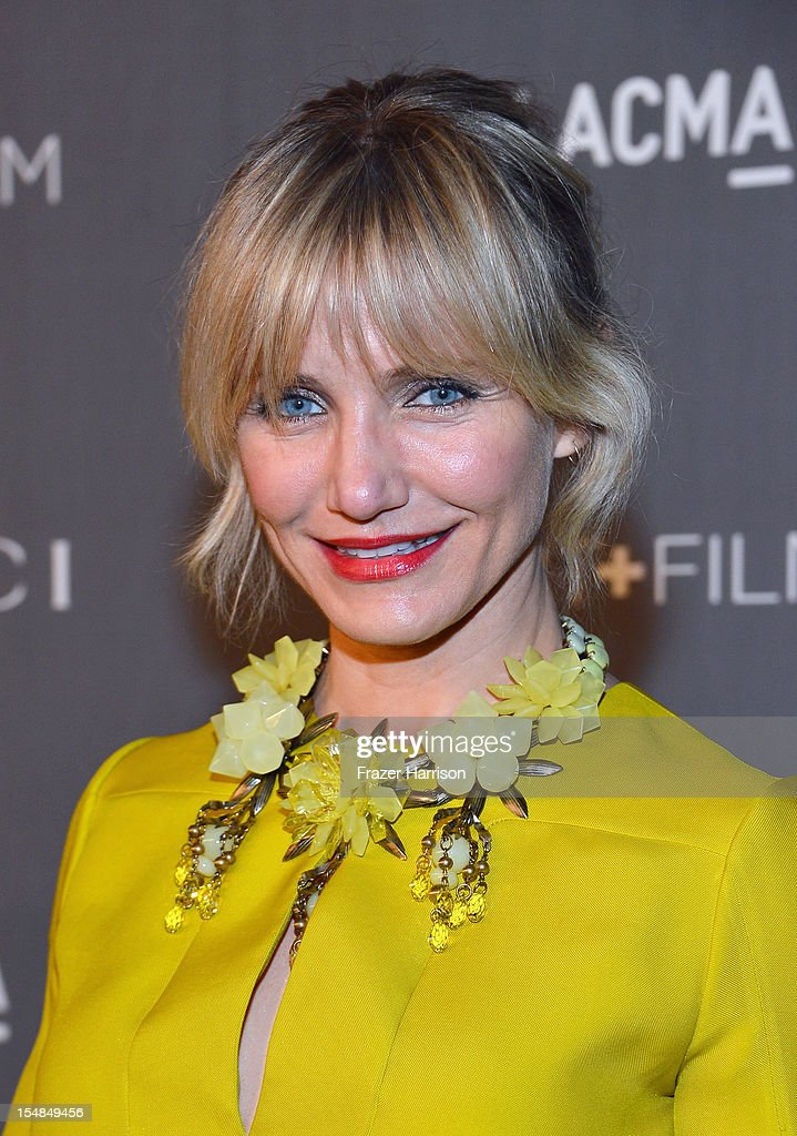 Actress Cameron Diaz arrives at LACMA 2012 Art + Film Gala Honoring Ed Ruscha and Stanley Kubrick presented by Gucci at LACMA on October 27, 2012 in Los Angeles, California.
