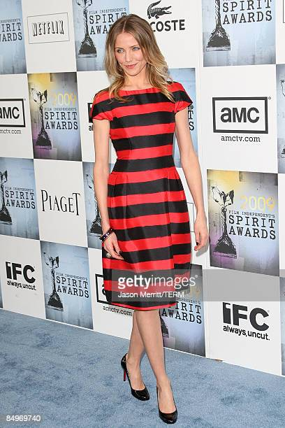 Actress Cameron Diaz arrives at the 24th Annual Film Independent's Spirit Awards held at Santa Monica Beach on February 21, 2009 in Santa Monica,...