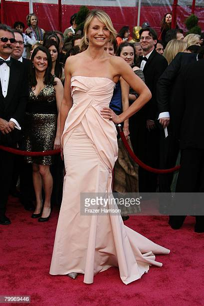 Actress Cameron Diaz arrives at the 80th Annual Academy Awards held at the Kodak Theatre on February 24 2008 in Hollywood California