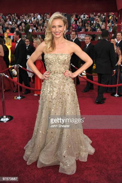 Actress Cameron Diaz arrives at the 82nd Annual Academy Awards held at the Kodak Theatre on March 7 2010 in Hollywood California