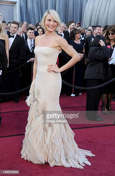 Actress Cameron Diaz arrives at the 84th Annual Academy Awards at Hollywood Highland Center on February 26 2012 in Hollywood California
