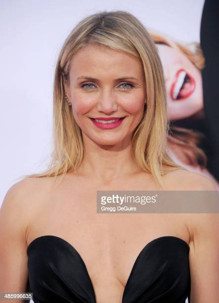 Actress Cameron Diaz arrives at the Los Angeles premiere of The Other Woman at Regency Village Theatre on April 21 2014 in Westwood California