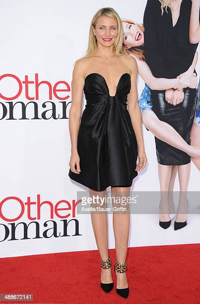 Actress Cameron Diaz arrives at the Los Angeles premiere of 'The Other Woman' at Regency Village Theatre on April 21 2014 in Westwood California
