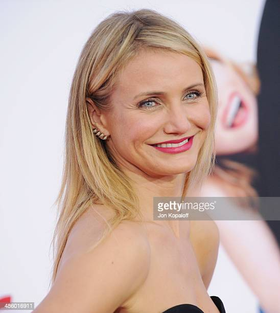 Actress Cameron Diaz arrives at the Los Angeles Premiere 'The Other Woman' at Regency Village Theatre on April 21 2014 in Westwood California