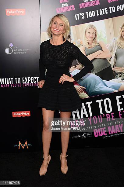 Actress Cameron Diaz arrives at the premiere of Lionsgate's What To Expect When You're Expecting held at Grauman's Chinese Theatre on May 14 2012 in...