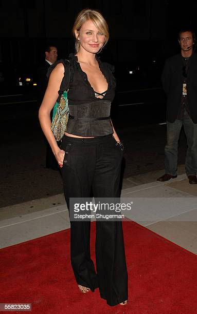 Actress Cameron Diaz arrives at the premiere of Twentieth Century Fox's In Her Shoes at the Academy of Motion Pictures Arts and Sciences Theater on...