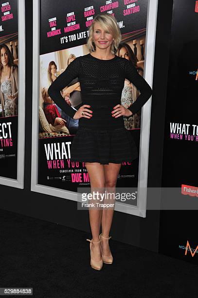 Actress Cameron Diaz arrives at the premiere of What To Expect When Your Expecting premiere held at Grauman's Chinese Theater