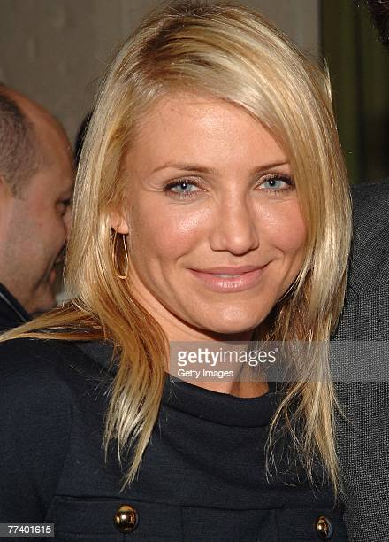 Actress Cameron Diaz attends a party for Robin Bell at STK on October 15 2007 in New York City