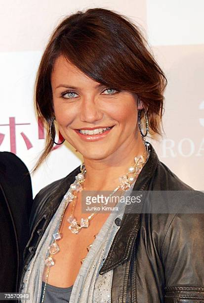 Actress Cameron Diaz attends a photo call and press conference to promote their latest film The Holiday at Park Tower Hall on March 14 2007 in Tokyo...