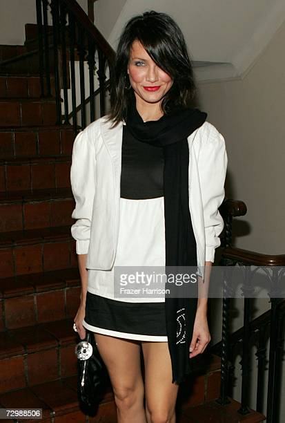 Actress Cameron Diaz attends an intimate dinner hosted by Chanel and Sienna Miller in honor of Les Exclusifs de Chanel held at Chateau Marmont on...