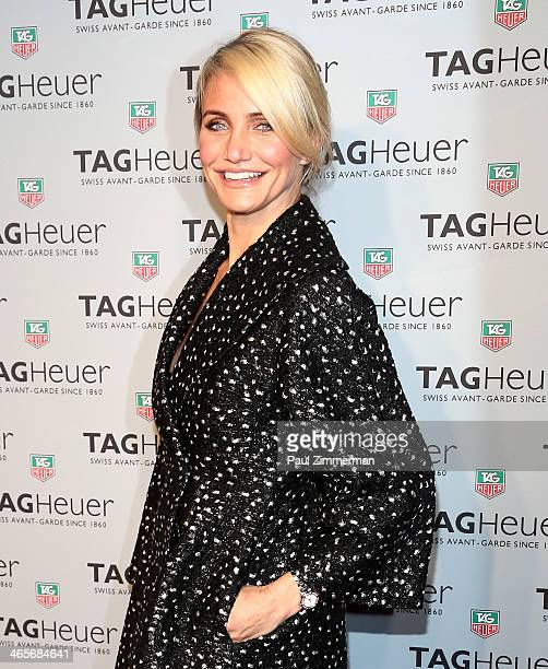 Actress Cameron Diaz attends TAG Heur New York City Flagship Store opening at TAG Heur New York City Flagship Store on January 28 2014 in New York...
