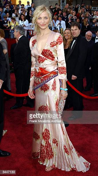 Actress Cameron Diaz attends the 74th Annual Academy Awards at the Kodak Theater on March 24 2002 in Hollywood California