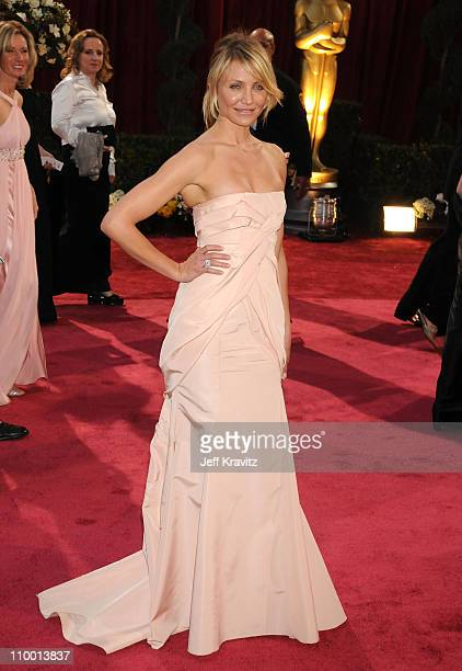 Actress Cameron Diaz attends the 80th Annual Academy Awards at the Kodak Theatre on February 24 2008 in Los Angeles California