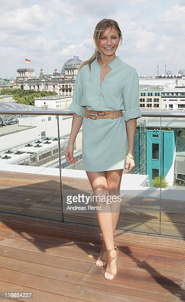 Actress Cameron Diaz attends the 'Bad Teacher' Germany photocall at the Adlon Hotel roof terrace on June 17 2011 in Berlin Germany