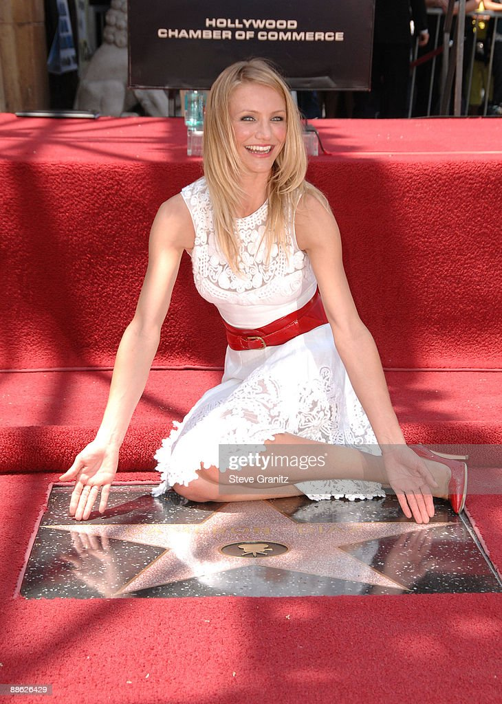 Actress Cameron Diaz attends the ceremony honoring her with a star on The Hollywood Walk of Fame on June 22, 2009 in Hollywood, California.