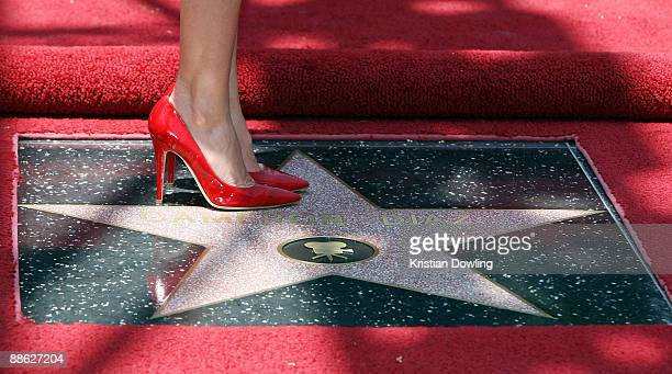 Actress Cameron Diaz attends the ceremony honoring her with a star on The Hollywood Walk of Fame on June 22 2009 in Hollywood California